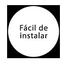Fácil de instalar (Tablero)