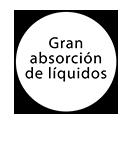 Gran absorción de líquidos